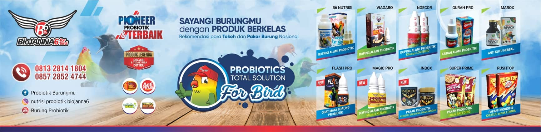 BioJANNA 6 for Bird | Burungku PUAS | Hp. 0813 2814 1084